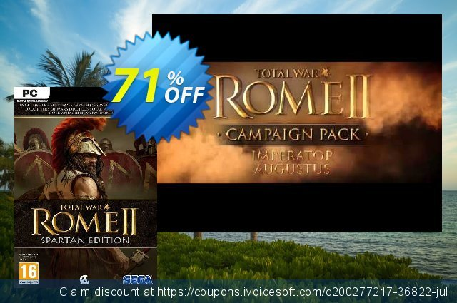 Total War Rome II - Spartan Edition PC (EU) discount 70% OFF, 2021 Mother Day offering sales. Total War Rome II - Spartan Edition PC (EU) Deal 2021 CDkeys