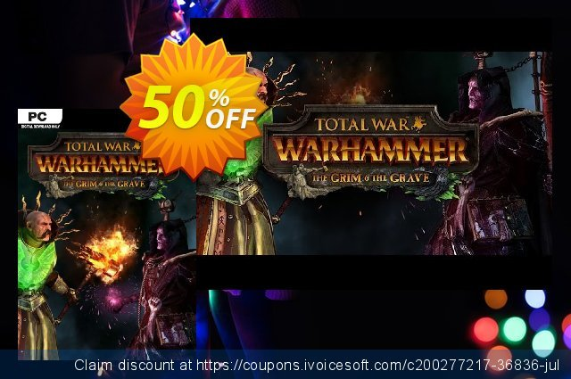Total War WARHAMMER – The Grim and The Grave DLC discount 30% OFF, 2021 Mother Day promo sales. Total War WARHAMMER – The Grim and The Grave DLC Deal 2021 CDkeys