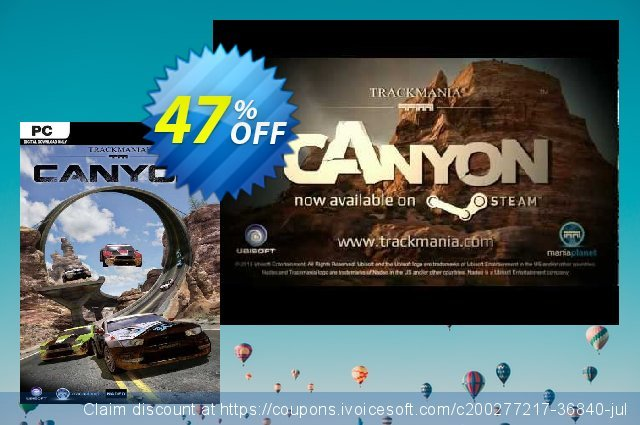 TrackMania² Canyon PC discount 75% OFF, 2021 Mother Day offering sales. TrackMania² Canyon PC Deal 2021 CDkeys