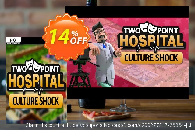 Two Point Hospital: Culture Shock PC - DLC discount 14% OFF, 2021 Mother Day offering sales. Two Point Hospital: Culture Shock PC - DLC Deal 2021 CDkeys