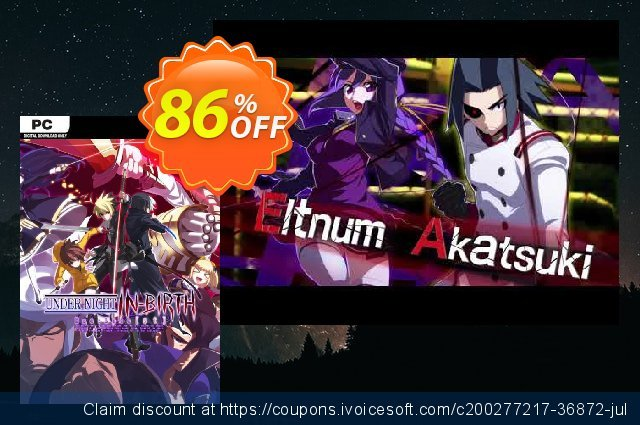 UNDER NIGHT IN-BIRTH Exe:Late PC discount 91% OFF, 2021 Mother Day offering sales. UNDER NIGHT IN-BIRTH Exe:Late PC Deal 2021 CDkeys