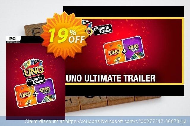 UNO Ultimate Edition PC (EU) discount 18% OFF, 2021 Mother's Day offering deals. UNO Ultimate Edition PC (EU) Deal 2021 CDkeys