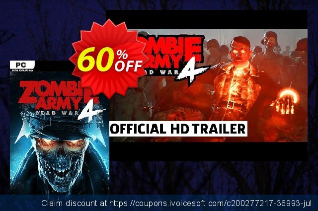 Zombie Army 4: Dead War PC discount 44% OFF, 2021 Flag Day offering sales. Zombie Army 4: Dead War PC Deal 2021 CDkeys