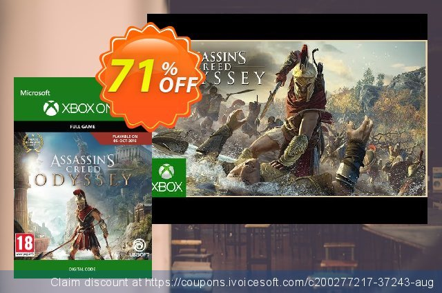 Assassin's Creed Odyssey Xbox One (UK) discount 71% OFF, 2021 Egg Day offering sales. Assassin's Creed Odyssey Xbox One (UK) Deal 2021 CDkeys