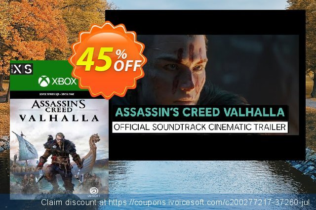 Assassin's Creed Valhalla Xbox One/Xbox Series X|S (UK) discount 45% OFF, 2021 Selfie Day offering sales. Assassin's Creed Valhalla Xbox One/Xbox Series X|S (UK) Deal 2021 CDkeys
