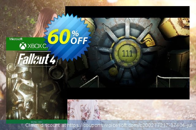 Fallout 4 Xbox One (UK) discount 60% OFF, 2021 World Day of Music offering deals. Fallout 4 Xbox One (UK) Deal 2021 CDkeys