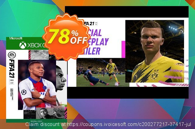FIFA 21 - Champions Edition Xbox One/Xbox Series X S (UK) discount 78% OFF, 2021 World Day of Music sales. FIFA 21 - Champions Edition Xbox One/Xbox Series X S (UK) Deal 2021 CDkeys