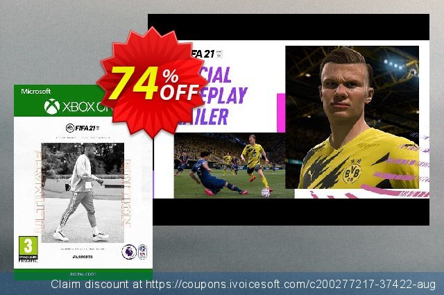 FIFA 21 - Ultimate Edition Xbox One/Xbox Series X|S (UK) discount 74% OFF, 2021 Flag Day offering sales. FIFA 21 - Ultimate Edition Xbox One/Xbox Series X|S (UK) Deal 2021 CDkeys