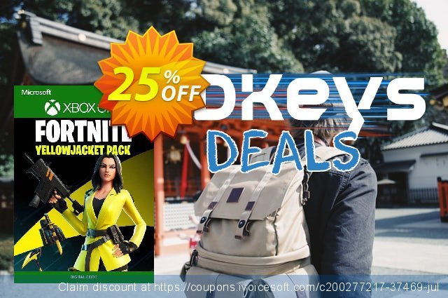 Fortnite - The Yellow Jacket Pack Xbox One (UK) discount 25% OFF, 2021 Mother's Day offering sales. Fortnite - The Yellow Jacket Pack Xbox One (UK) Deal 2021 CDkeys