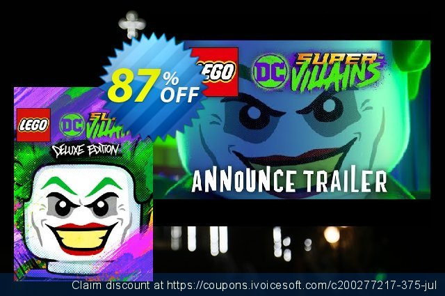 Lego DC Super-Villains Deluxe Edition PC discount 90% OFF, 2021 Mother's Day offering sales. Lego DC Super-Villains Deluxe Edition PC Deal