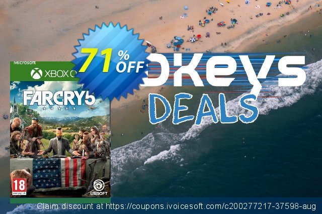 Far Cry 5 Xbox One (UK) discount 71% OFF, 2021 Selfie Day offering sales. Far Cry 5 Xbox One (UK) Deal 2021 CDkeys