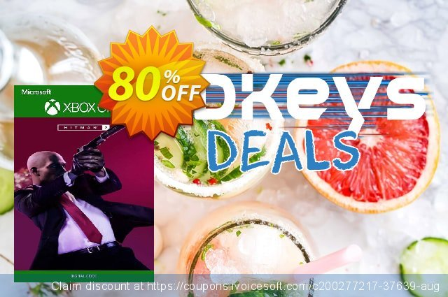 HITMAN 2 Xbox One (UK) discount 80% OFF, 2021 Kissing Day offering sales. HITMAN 2 Xbox One (UK) Deal 2021 CDkeys
