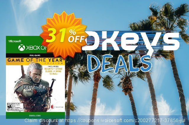 The Witcher 3: Wild Hunt – Game of the Year Edition Xbox One (WW) discount 31% OFF, 2021 World Environment Day offer. The Witcher 3: Wild Hunt – Game of the Year Edition Xbox One (WW) Deal 2021 CDkeys