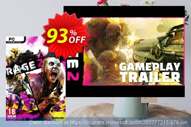 Rage 2 PC (EMEA) discount 89% OFF, 2020 Halloween offering sales