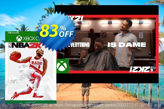 NBA 2K21 Xbox One (UK) discount 83% OFF, 2021 Flag Day offering sales. NBA 2K21 Xbox One (UK) Deal 2021 CDkeys