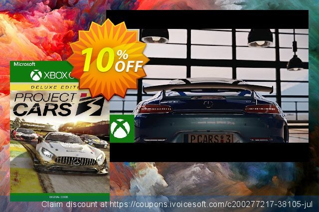 Project Cars 3 Deluxe Edition Xbox One (US) 令人惊奇的 产品销售 软件截图