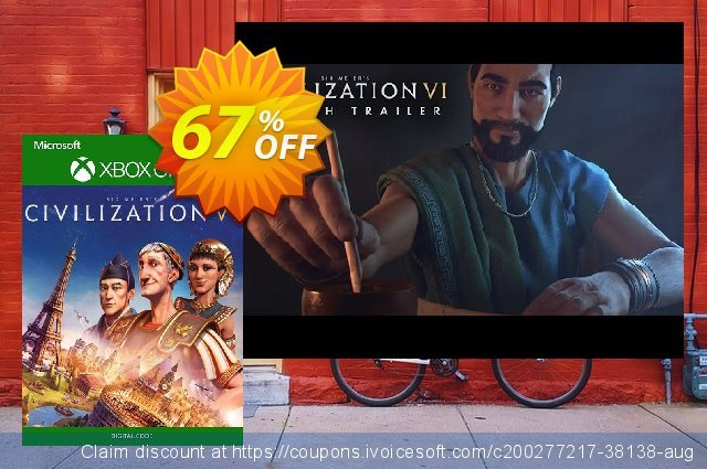 Sid Meier's Civilization VI 6 Xbox One (UK) discount 67% OFF, 2021 Global Running Day promotions. Sid Meier's Civilization VI 6 Xbox One (UK) Deal 2021 CDkeys