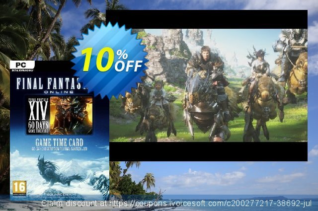 Final Fantasy XIV 14: A Realm Reborn 60 Day Time Card PC (US) discount 24% OFF, 2021 Kissing Day offer. Final Fantasy XIV 14: A Realm Reborn 60 Day Time Card PC (US) Deal 2021 CDkeys