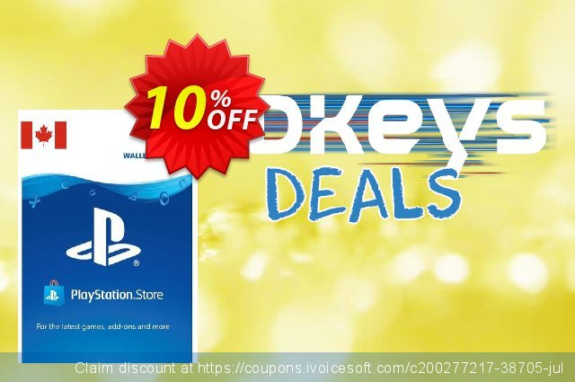 PlayStation Network (PSN) Card - 25 CAD (CANADA) discount 10% OFF, 2021 Kissing Day offering sales. PlayStation Network (PSN) Card - 25 CAD (CANADA) Deal 2021 CDkeys