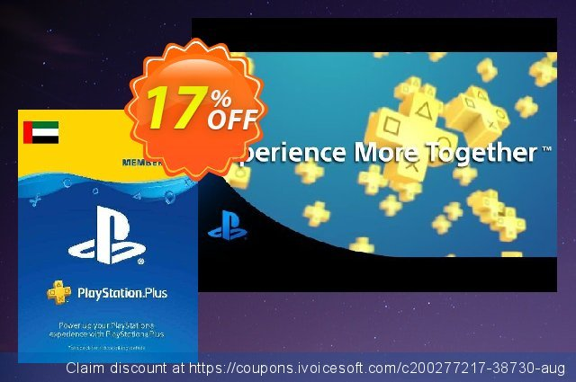 PlayStation Plus - 1 Month Subscription (UAE) discount 17% OFF, 2021 World Day of Music offer. PlayStation Plus - 1 Month Subscription (UAE) Deal 2021 CDkeys