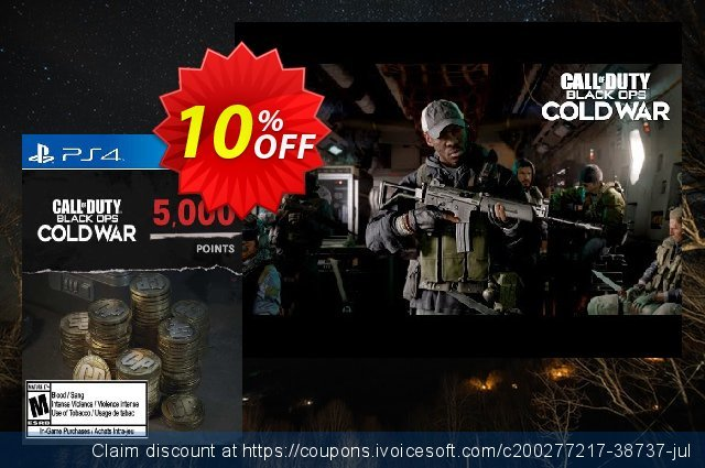 Call of Duty: Black Ops Cold War - 5000 Points PS4/PS5 (Netherlands) discount 10% OFF, 2021 Italian Republic Day offering sales. Call of Duty: Black Ops Cold War - 5000 Points PS4/PS5 (Netherlands) Deal 2021 CDkeys