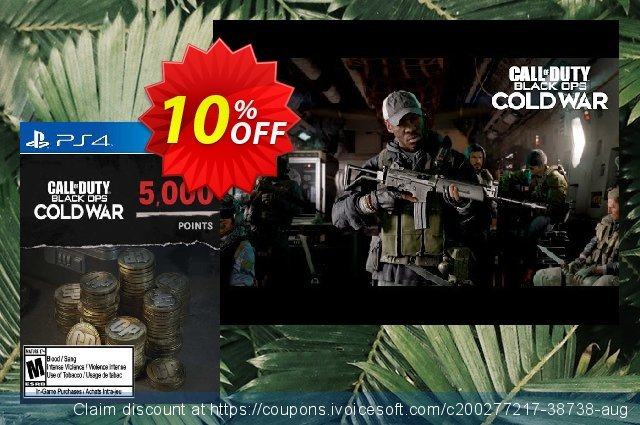 Call of Duty: Black Ops Cold War - 5000 Points PS4/PS5 (Belgium) discount 10% OFF, 2021 Egg Day offering sales. Call of Duty: Black Ops Cold War - 5000 Points PS4/PS5 (Belgium) Deal 2021 CDkeys