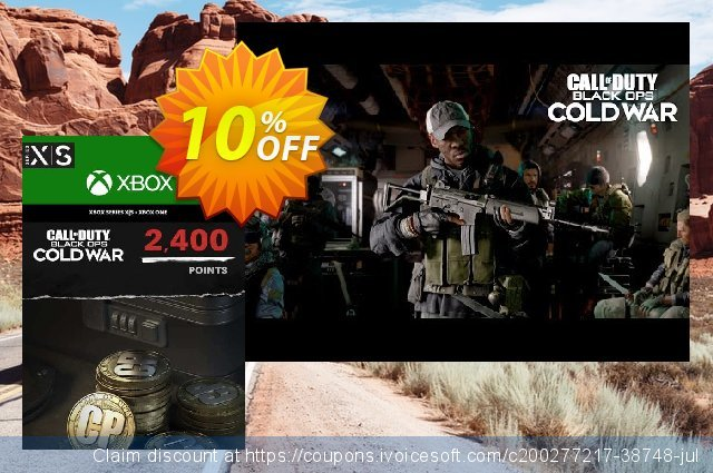 Call of Duty: Black Ops Cold War - 2400 Points Xbox One/ Xbox Series X|S discount 11% OFF, 2021 Flag Day deals. Call of Duty: Black Ops Cold War - 2400 Points Xbox One/ Xbox Series X|S Deal 2021 CDkeys