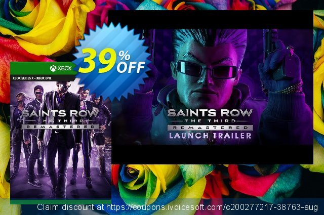 Saints Row The Third Remastered Xbox One (UK) discount 39% OFF, 2021 Italian Republic Day offering sales. Saints Row The Third Remastered Xbox One (UK) Deal 2021 CDkeys