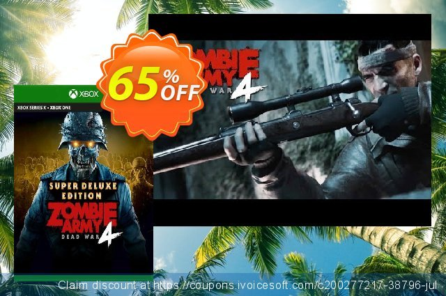 Zombie Army 4 Dead War Super Deluxe Edition Xbox One (UK) discount 65% OFF, 2021 Kissing Day offering sales. Zombie Army 4 Dead War Super Deluxe Edition Xbox One (UK) Deal 2021 CDkeys