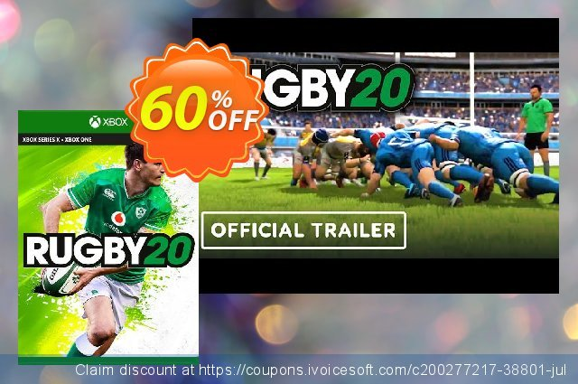 Rugby 20 Xbox One (UK) discount 60% OFF, 2021 Global Running Day offering sales. Rugby 20 Xbox One (UK) Deal 2021 CDkeys