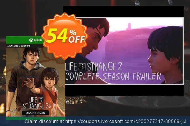 Life is Strange 2 Complete Season Xbox One (UK) discount 54% OFF, 2021 Kissing Day offering sales. Life is Strange 2 Complete Season Xbox One (UK) Deal 2021 CDkeys