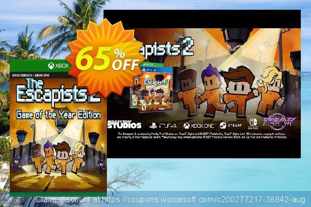 The Escapists 2 - GOTY Xbox One (UK) discount 65% OFF, 2021 Egg Day sales. The Escapists 2 - GOTY Xbox One (UK) Deal 2021 CDkeys