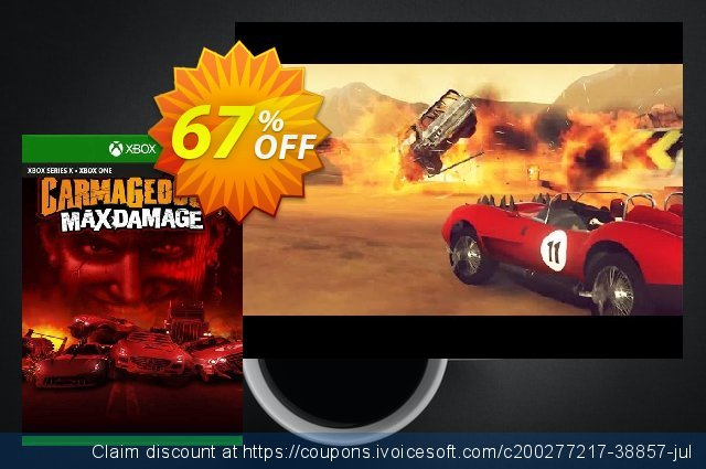 Carmageddon Max Damage Xbox One (UK) discount 67% OFF, 2021 World Environment Day offering sales. Carmageddon Max Damage Xbox One (UK) Deal 2021 CDkeys