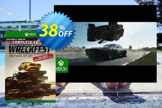 Wreckfest Complete Edition Xbox One (UK) discount 38% OFF, 2021 Italian Republic Day offering deals. Wreckfest Complete Edition Xbox One (UK) Deal 2021 CDkeys