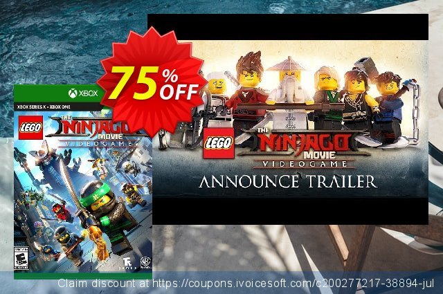 The LEGO Ninjago Movie Video Game Xbox One (US) discount 73% OFF, 2021 Egg Day offering sales. The LEGO Ninjago Movie Video Game Xbox One (US) Deal 2021 CDkeys