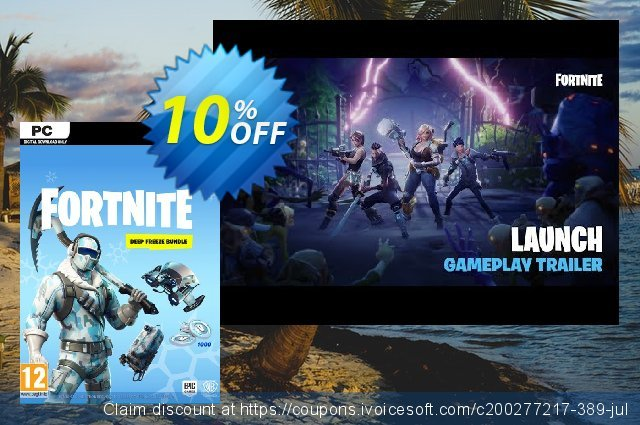 Fortnite Deep Freeze Bundle PC discount 10% OFF, 2020 Thanksgiving Day offering sales