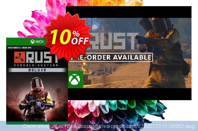 Rust Console Edition - Deluxe Edition Xbox One (EU) discount 10% OFF, 2021 Kissing Day offering sales. Rust Console Edition - Deluxe Edition Xbox One (EU) Deal 2021 CDkeys