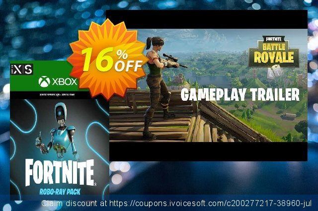 Fortnite - Robo-Ray Pack Xbox One (US) discount 10% OFF, 2021 World Bicycle Day offering discount. Fortnite - Robo-Ray Pack Xbox One (US) Deal 2021 CDkeys