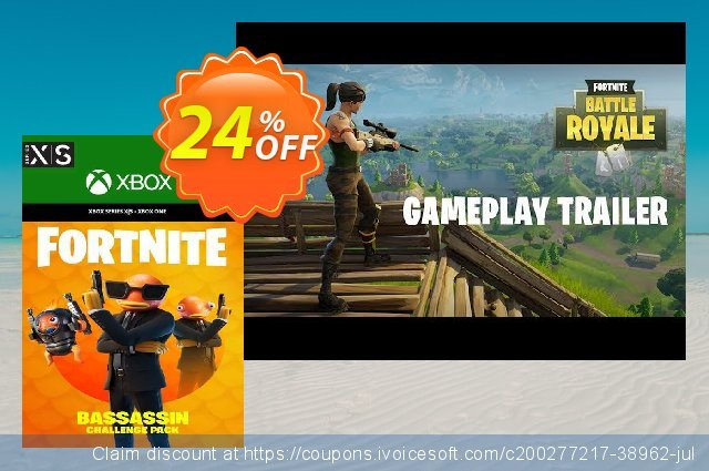 Fortnite - Bassassin Challenge Pack Xbox One (US) discount 17% OFF, 2021 Oceans Month offering deals. Fortnite - Bassassin Challenge Pack Xbox One (US) Deal 2021 CDkeys
