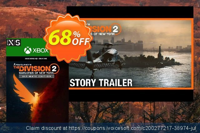 The Division 2 - Warlords of New York - Ultimate Edition Xbox One/ Xbox Series X|S 令人敬畏的 折扣 软件截图