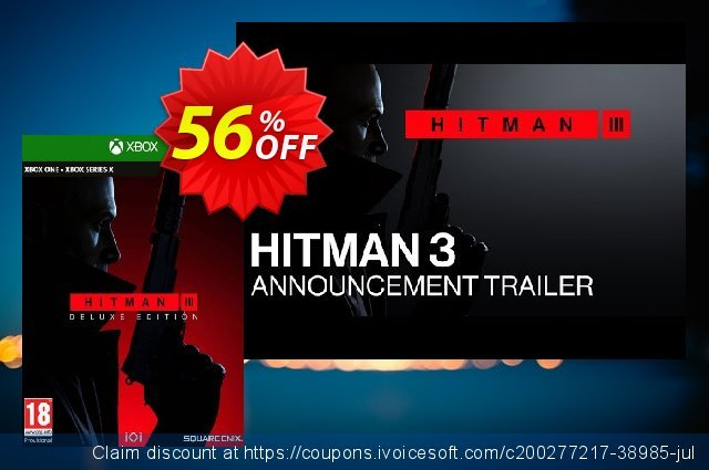 HITMAN 3 Deluxe Edition Xbox One/Xbox Series X|S discount 56% OFF, 2021 Egg Day offering sales. HITMAN 3 Deluxe Edition Xbox One/Xbox Series X|S Deal 2021 CDkeys