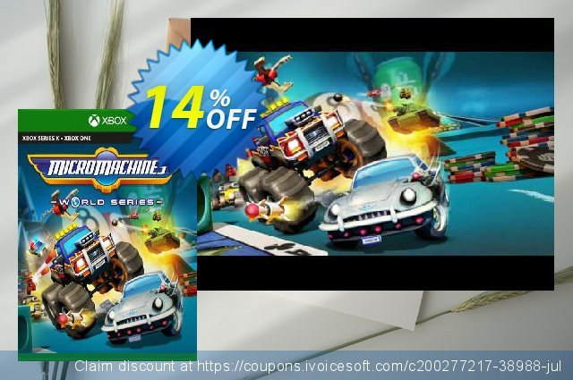 Micro Machines World Series Xbox One (US) discount 13% OFF, 2021 Oceans Month offering sales. Micro Machines World Series Xbox One (US) Deal 2021 CDkeys