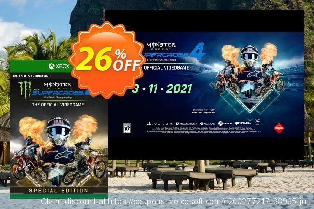 Monster Energy Supercross 4 Special Edition Xbox One (UK) discount 26% OFF, 2021 Flag Day deals. Monster Energy Supercross 4 Special Edition Xbox One (UK) Deal 2021 CDkeys