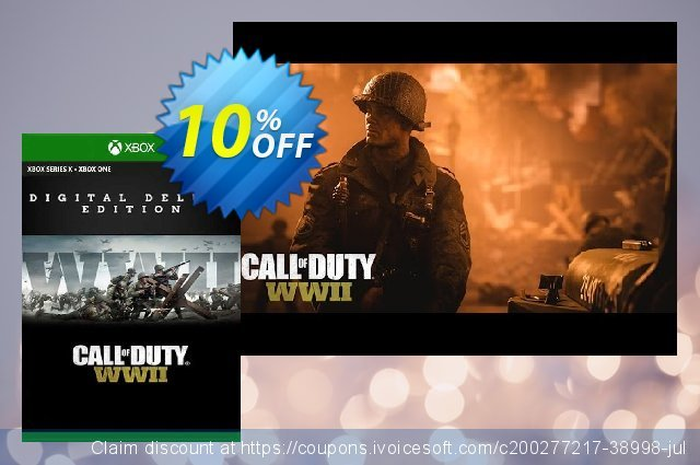 Call of Duty: WWII - Digital Deluxe Xbox One (EU) discount 10% OFF, 2021 Egg Day offering discount. Call of Duty: WWII - Digital Deluxe Xbox One (EU) Deal 2021 CDkeys