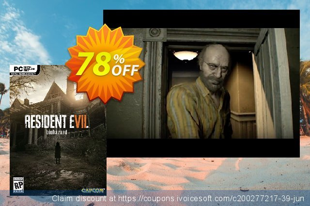 Resident Evil 7 - Biohazard PC discount 86% OFF, 2020 January offering sales