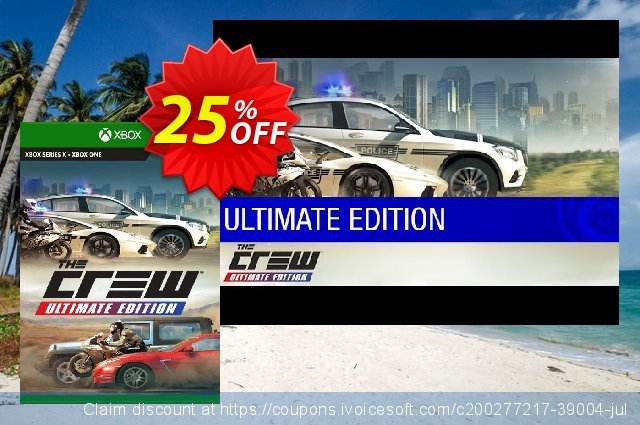 The Crew Ultimate Edition Xbox One (EU) discount 25% OFF, 2021 Kissing Day offering sales. The Crew Ultimate Edition Xbox One (EU) Deal 2021 CDkeys