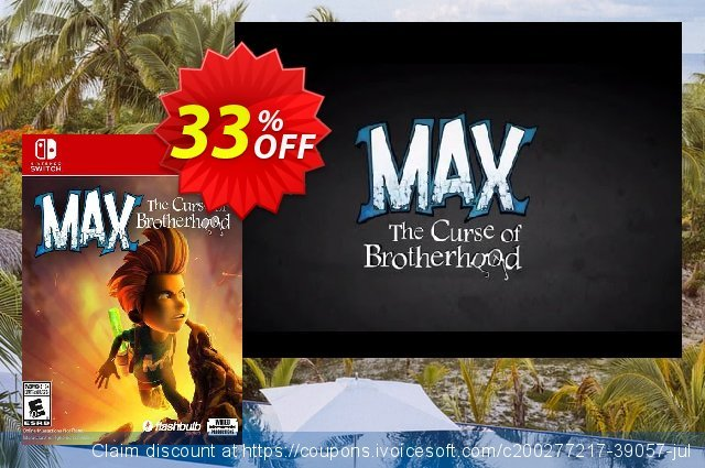 Max: The Curse of Brotherhood Switch (EU) discount 33% OFF, 2021 Camera Day offering deals. Max: The Curse of Brotherhood Switch (EU) Deal 2021 CDkeys