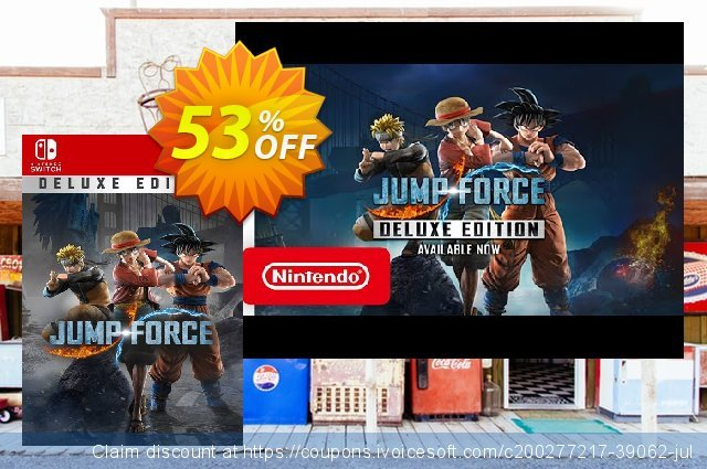 Jump Force Deluxe Edition Switch (EU) discount 53% OFF, 2021 Italian Republic Day offering sales. Jump Force Deluxe Edition Switch (EU) Deal 2021 CDkeys