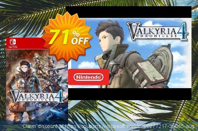 Valkyria Chronicles 4 Switch (EU) discount 71% OFF, 2021 World Environment Day offering sales. Valkyria Chronicles 4 Switch (EU) Deal 2021 CDkeys