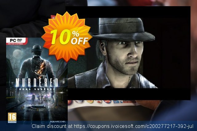 Murdered: Soul Suspect PC discount 10% OFF, 2021 Mother Day offering sales. Murdered: Soul Suspect PC Deal